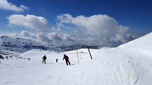 Skiing in Mount Hermon - car rental israel