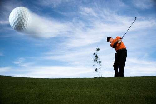 Playing golf in caesarea