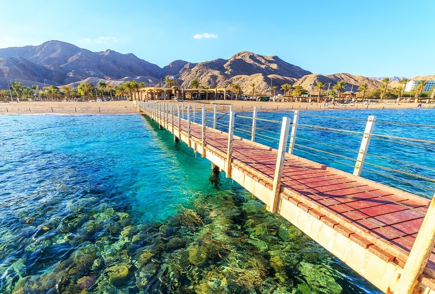 car rental in israel - eilat beach